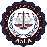 ASLA 2016 Top 40 Lawyer Under 40 Badge